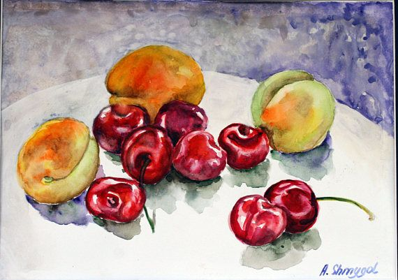 Check out this item in my Etsy shop https://www.etsy.com/listing/526744538/original-watercolor-painting-fruits