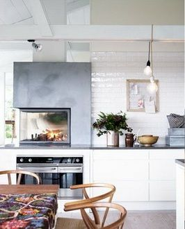 camino in cucina