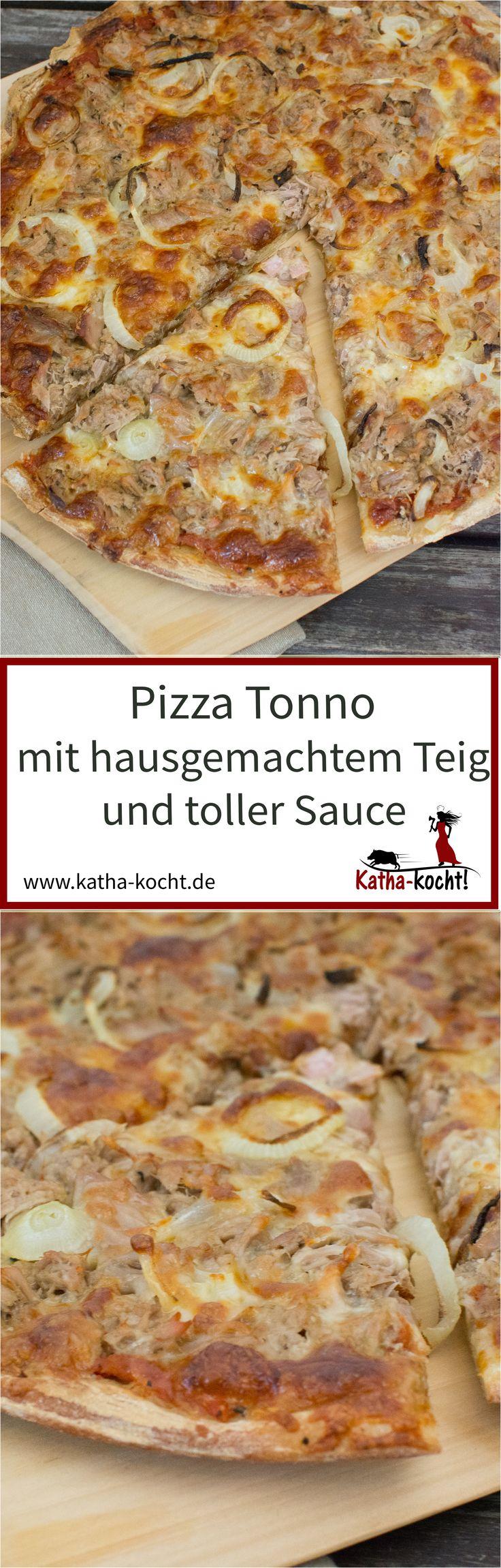 Pizza Tonno, auch bekannt als die klassische Thunfisch Pizza ist ganz schnell gemacht. Mit selbst gemachtem Teig und toller Sauce ist sie trotzdem nie langweilig! Das Rezept gibt es auf katha-kocht!