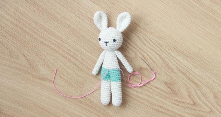 Free amigurumi bunny pattern by Little Bear Crochets