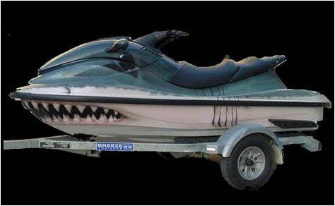 Airbrushed Jet Ski   #salvage #idea #custom #customize #jetski #airbrushed #paint #shark #waverunner #ocean #salvagejetski #salvageboats #salvage #boats #auction