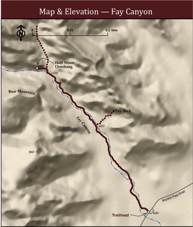 Fay Canyon Sedona Trail Map
