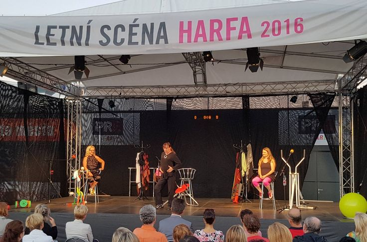 Představení Tělo, volné pokračování hry Monology vagíny, na Letní scéna Harfa. #galerieharfa #letniscena #divadlo