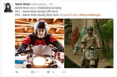 Sania Mirza takes a dig at Aamir Khan calls for #BoycottDangal