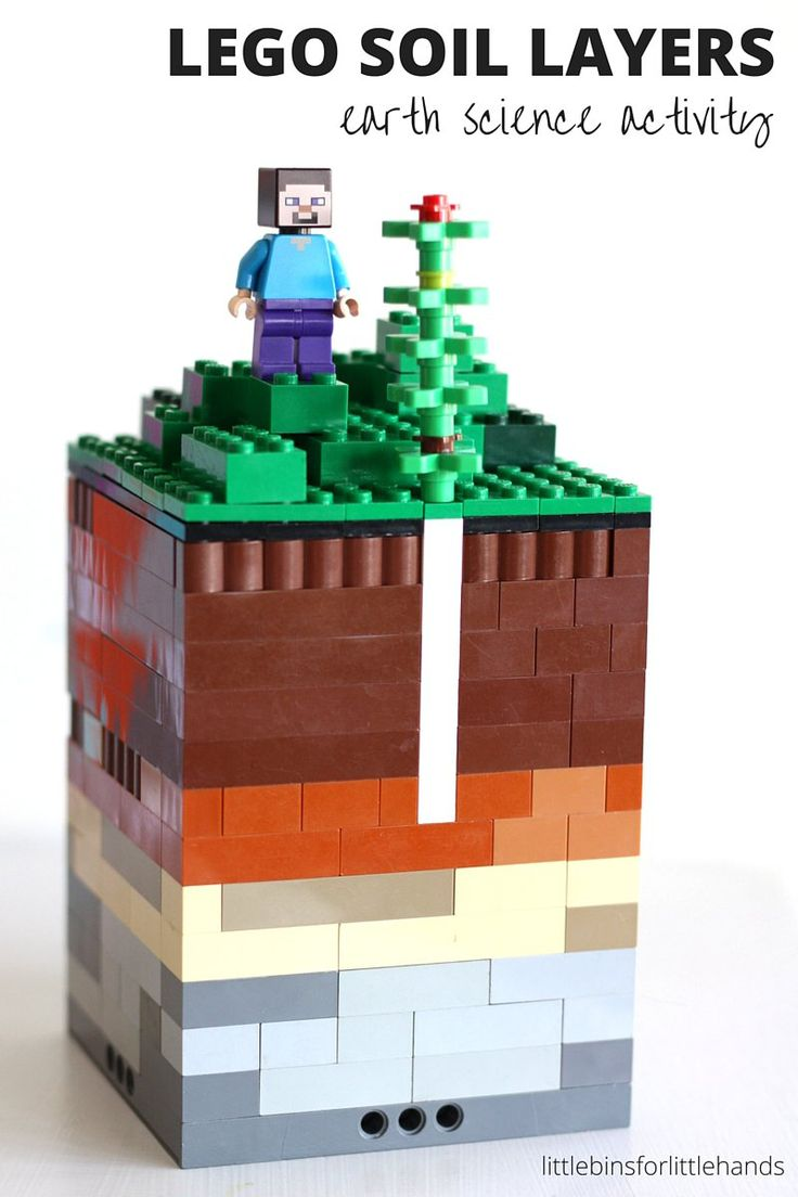 Explore Earth Science with LEGO! Build this soil layers activity and learn about the different layers of soil! Great, hands-on Earth science activity.