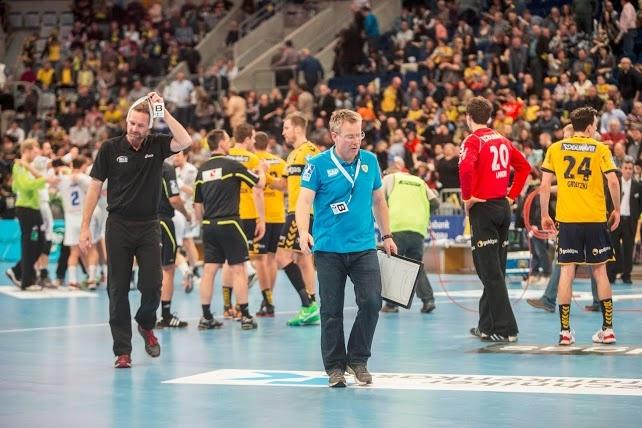 02.03.2013 Rhein-Neckar Löwen vs. HSV Hamburg. Enttäuschung nach der Niederlage #RNLoewen #Handball