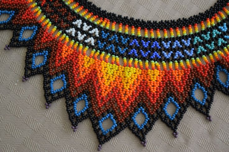 Colombian Glass Bead Necklace (BN537) | Little Colibri