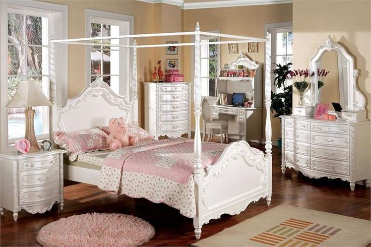 Wonderful CM7519 Victoria Youth Bedroom Collection # Traditional Girls Bedroom#canopy  Bed For Girls