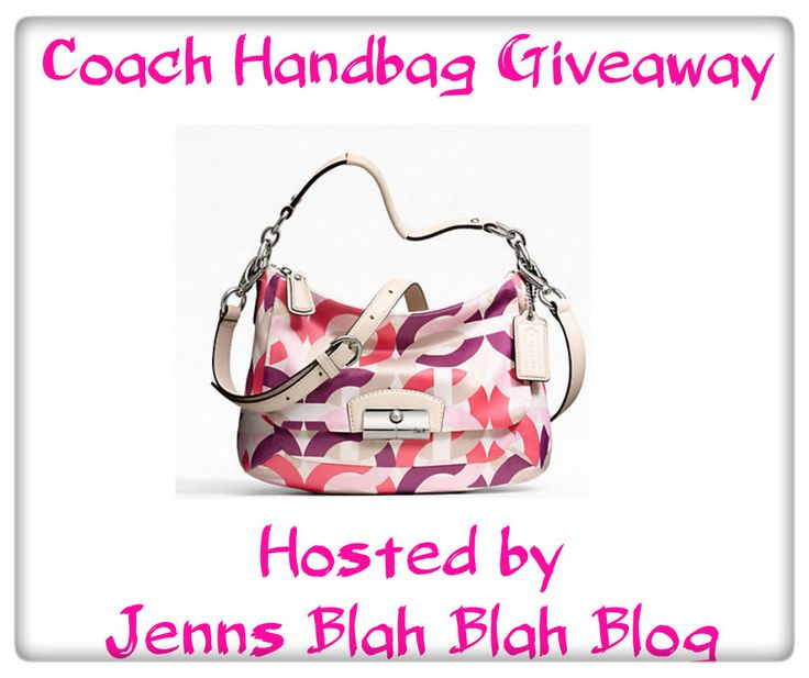 Don't miss your chance to #win the Coach #Handbag #Giveaway! Hurry over and enter. remember to follow along this is the first of 3 Coach Handbag Giveaways! #BlahBlahSweeps