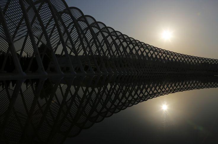 La structure «Agora» du complexe olympique d'Athènes 2004 le 27 juillet 2014.