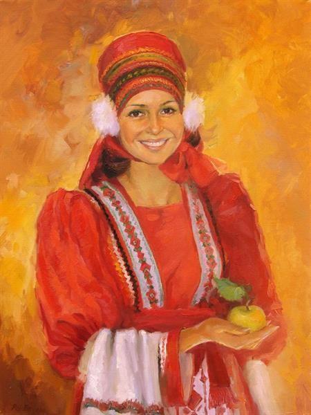 Портрет девушки в национальном костюме