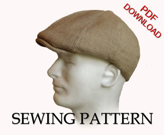 *****$3 OFF ADDITIONAL PATTERNS! ***** See coupon codes below...  SEWING PATTERN  Taylor  This 1920s newsboy cap, also known as a Gatsby cap,