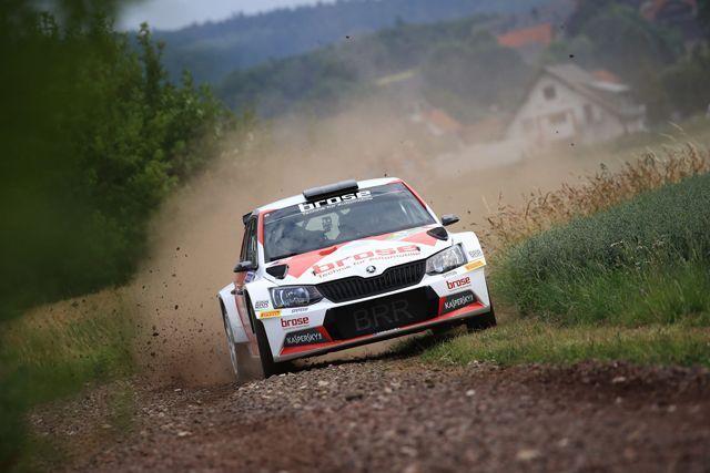 Dominik Dinkel Christina Kohl Brose Motorsport mit dem BRR Team in der deutschen Rallyemeisterschaft