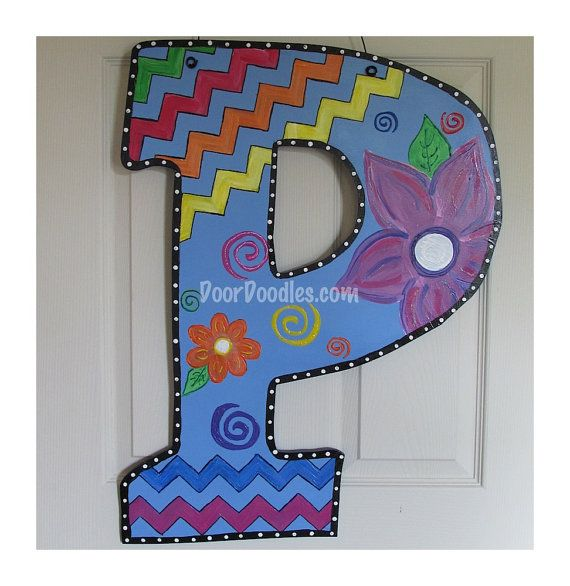 letters for front door443 best Painting Letters images on Pinterest  Painted letters