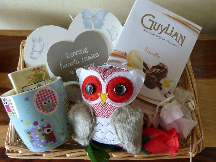 Lovely Owl Lovers Gift Pamper Hamper Basket for Mum Nana Aunt Sister  Birthday