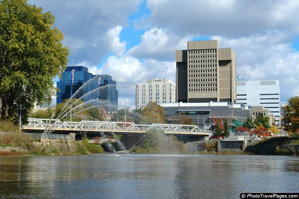 """London, Ontario, Canada.  Officially known as """"The Forest City"""" due to the bazillion trees within the city.  My hometown."""