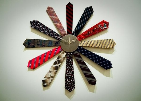 Reloj DIY con corbatas