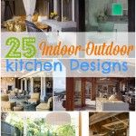 Indoor Outdoor Kitchen Design Inspirations - this is especially great, when you don't have [much] of a backyard and want to get the most use out of WHAT you have.