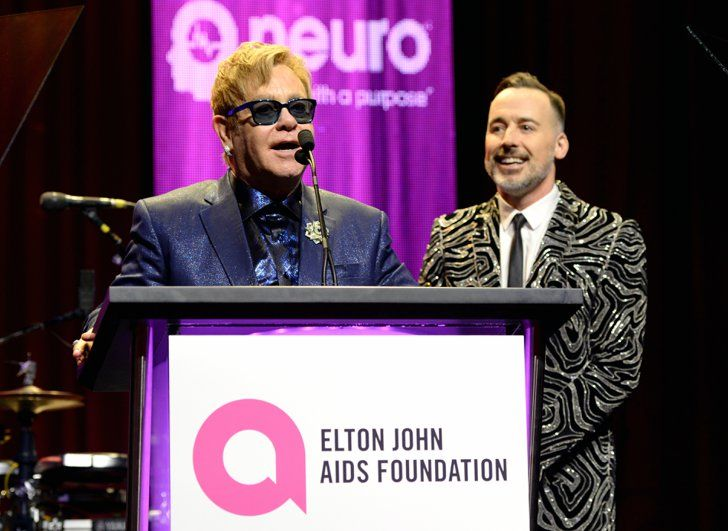Pin for Later: Stars Let Their Hair Down at Elton John's Annual Oscars Bash!  Pictured: Elton John and David Furnish