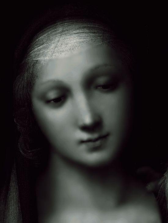 .Raffaelo Raffael (Santi Sanzio, Raffael da Urbino) - Madonna del Granduca (detail).