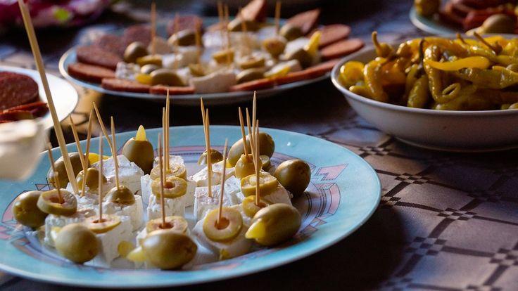 Tasty Olives and salami!