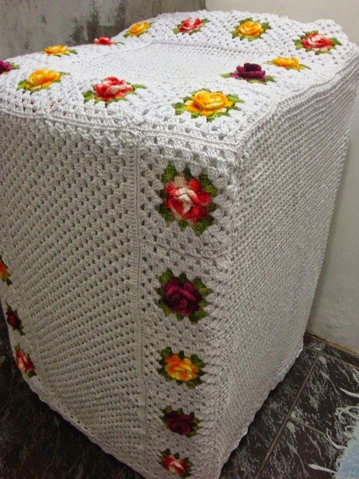 capa para maquina de lavar em croche                                                                                                                                                      Mais