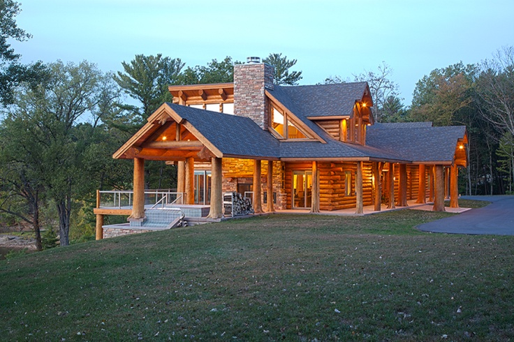 Lake Delton, WI Home by Wisconsin Log Homes The Log Home