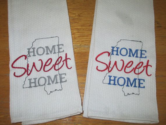 This soft and durable towel will make a great hostess gift, housewarming  gift, or a gift to yourself. The words can be embroidered in your favorite  school ...