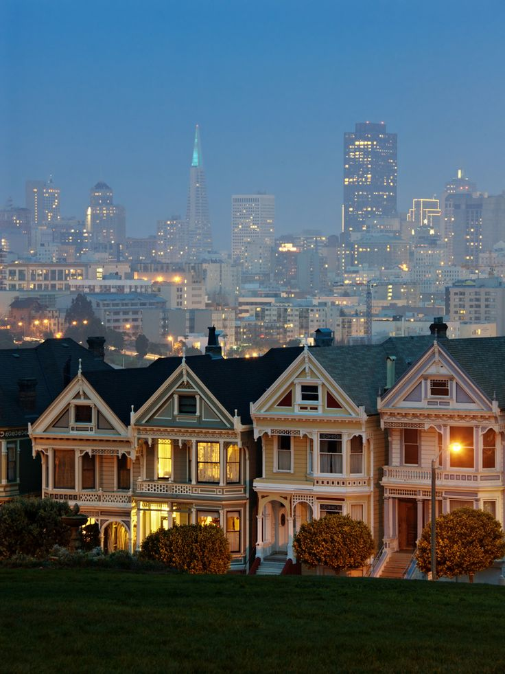 The famous painted ladies in San Francisco! ~ where they filmed the beginning of Full House.
