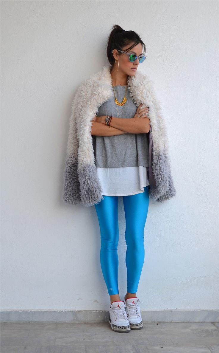 Nansy with the cyan PCP leggings // #pcpclothing #pcpleggings #pcpinia