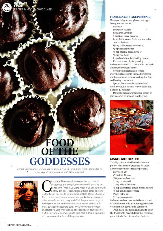 Lookout for some great Model Chocolate free recipes in Wellbeing Magazine!