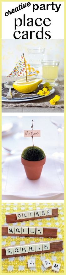 Creative Party Place Cards