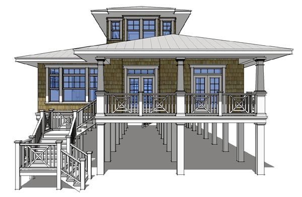 House Plan 67536 | Coastal    Plan with 2621 Sq. Ft., 3 Bedrooms, 3 Bathrooms