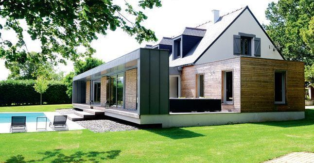 60 m2 pour une extension en bois