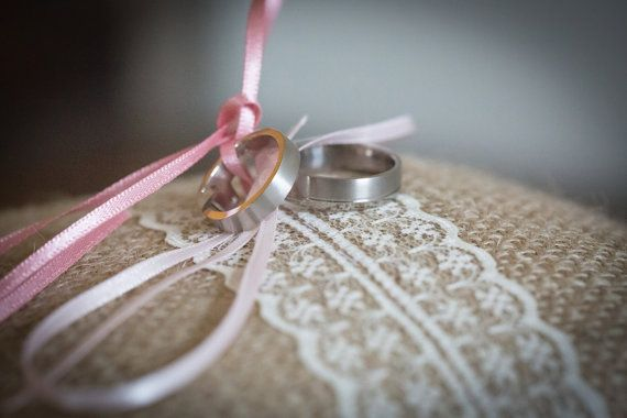 Ring bearer burlap wedding ring cushion by RusticWeddingGraphic