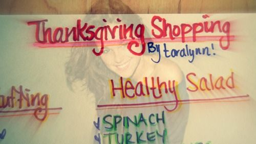 Undressed Skeleton — Thanksgiving Shopping List!