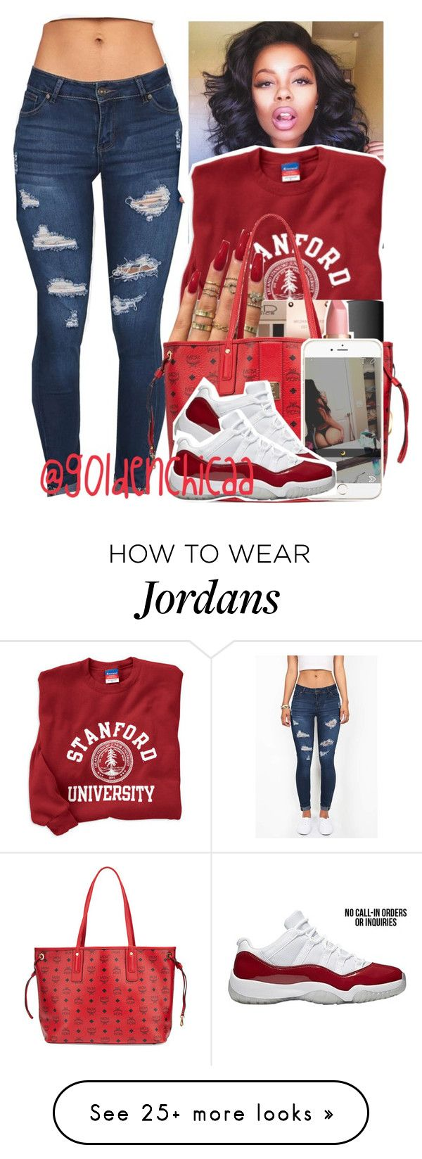 """ I'm selfish "" by g0ldenchicaa on Polyvore featuring MCM"