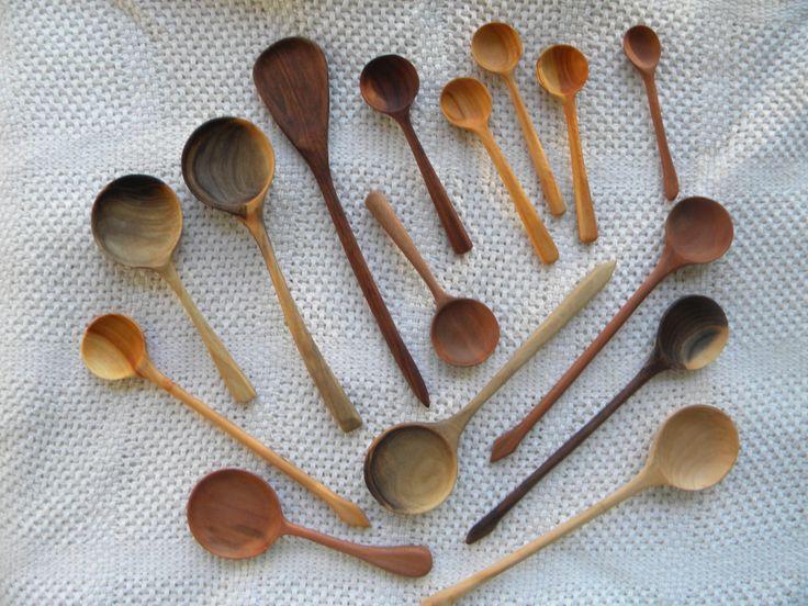 wooden spoons - black walnut, dogwood, & cherry