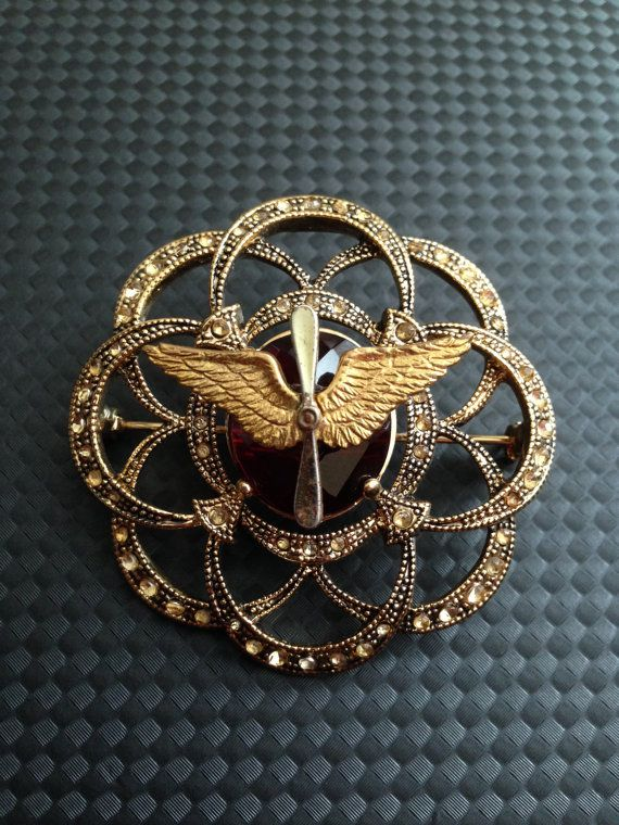 VINTAGE US Air Force Sweetheart Pin, In Stock, Ready to