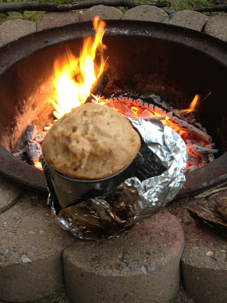 Campfire Tin Can Bread Any Boxed Bread Mix And Place