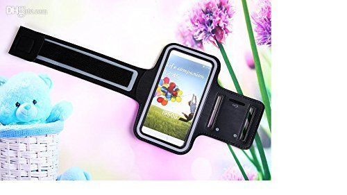 Samsung Galaxy Note 2,3,4 Case, #1 Imports Armband Soft Leather Cover Strap for - Jogging, Running, Walking the dog, Hiking, Bike Riding and more. (Black)