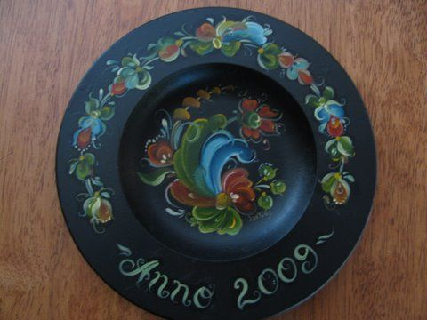 A plate I painted for my Danish cousin