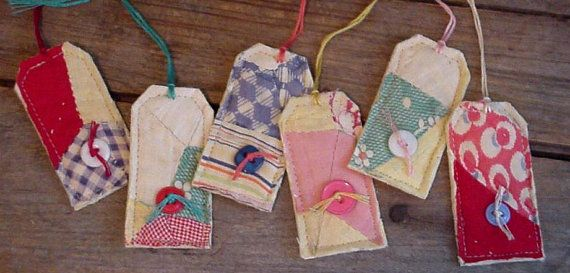 hand quilted gift tags
