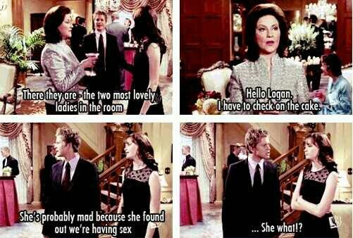 Gilmore Girls - Kelly Bishop, Alexis Bledel and Matt Czuchry