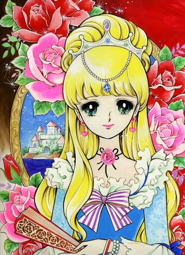 Baroque princess with long blond hair by manga artist Miyako Maki.