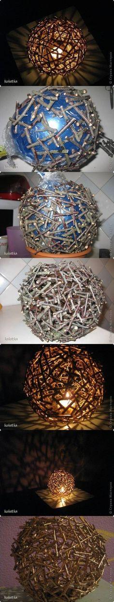 How to make Tree stickes Lighting DIY tutorial instructions, How to, how to do, diy instructions, crafts, do it yourself, diy website, art p by Mary Smith fSesz