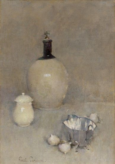 """Still Life,"" Emil Carlsen, 1920, oil on canvas, 20 × 14"", The Museum of Fine Arts, Houston."