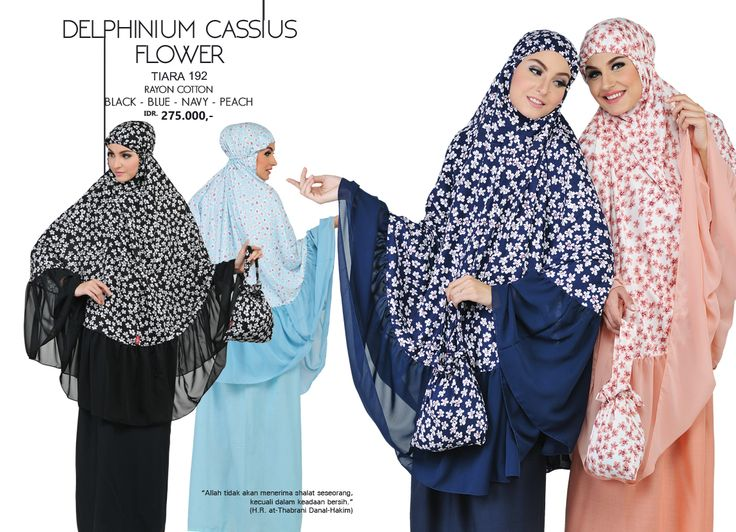 Delphinium Cassius Flower - Tiara 192 Rayon Cotton  Black, Blue, Navy & Peach AVAILABLE only IDR 275.000,-