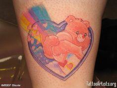 best care bear tattoo ever awwwwww