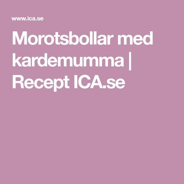 Morotsbollar med kardemumma | Recept ICA.se